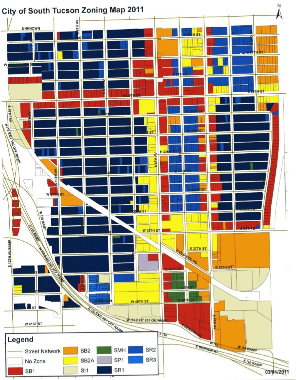 Zoning Map | The City of South Tucson Arizona